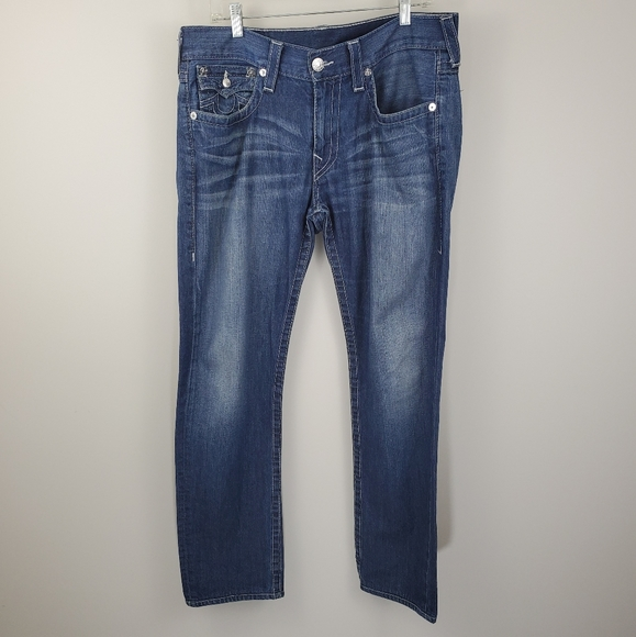 True Religion Straight Skinny Jeans style Faded